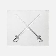 Rapier Swords Throw Blanket