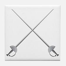 Rapier Swords Tile Coaster