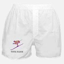 Ski Racer (Custom) Boxer Shorts