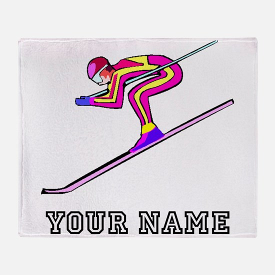 Ski Racer (Custom) Throw Blanket