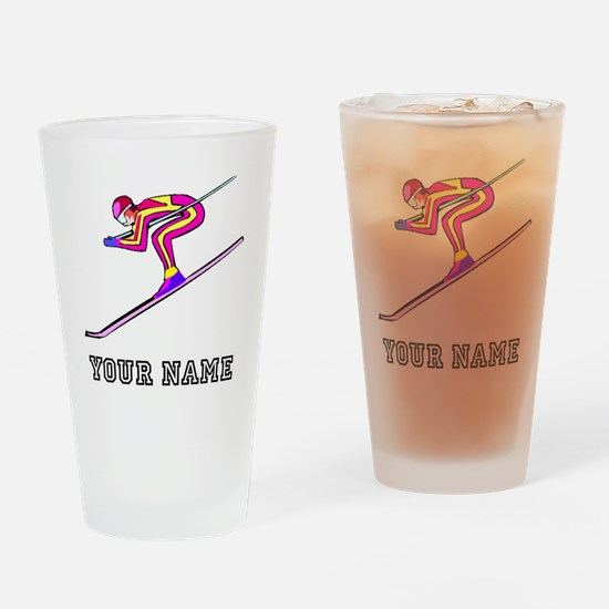 Ski Racer (Custom) Drinking Glass