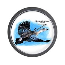 Blue-Winged Goose Wall Clock