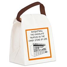 racquetball Canvas Lunch Bag