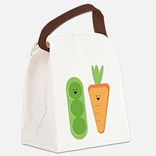 Carrots & Peas Canvas Lunch Bag