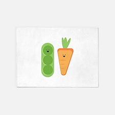Carrots & Peas 5'x7'Area Rug
