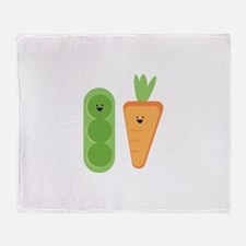 Carrots & Peas Throw Blanket