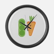 Carrots & Peas Large Wall Clock