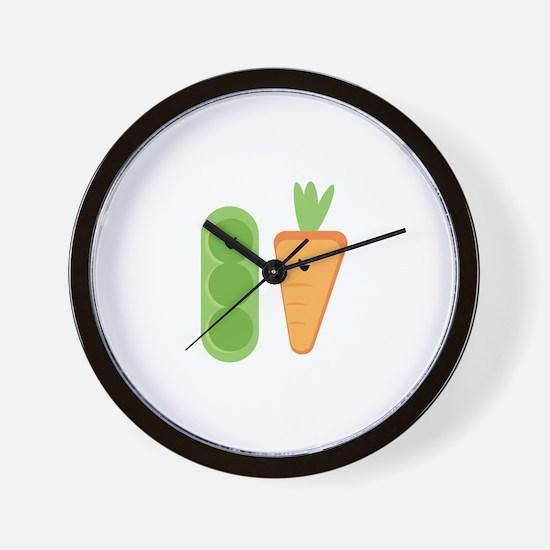 Carrots & Peas Wall Clock