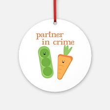 Partner In Crime Ornament (Round)