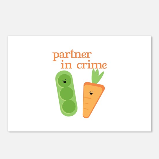 Partner In Crime Postcards (Package of 8)