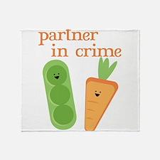 Partner In Crime Throw Blanket