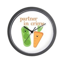 Partner In Crime Wall Clock