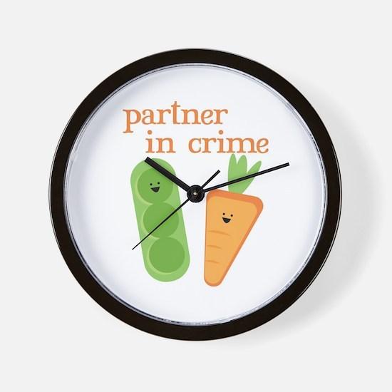 Partner In Crime Wall Clock