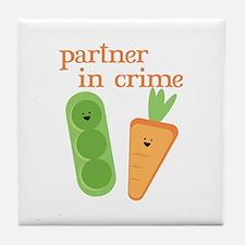 Partner In Crime Tile Coaster
