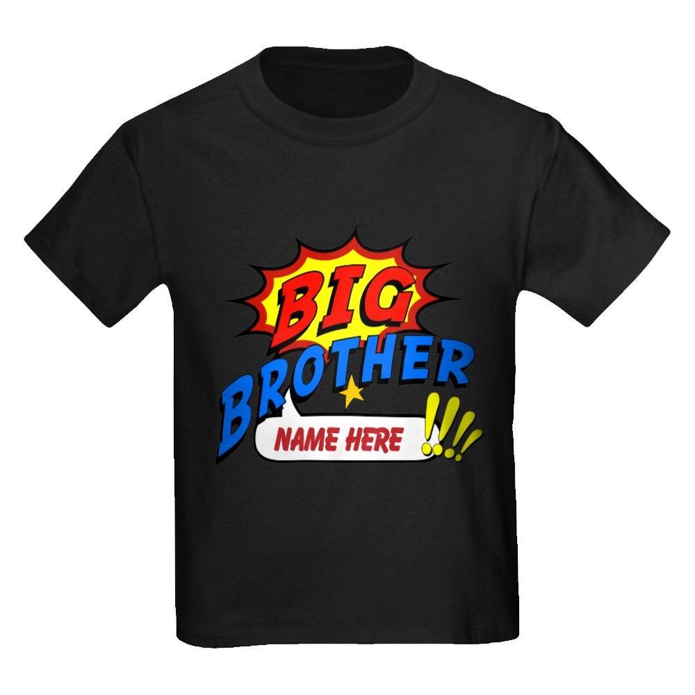 CafePress Big Brother Superhero Kids Dark T-Shirt
