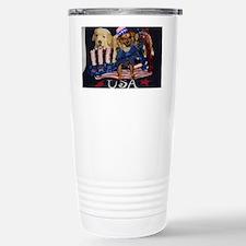 Patriotic Pooch Stainless Steel Travel Mug