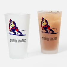 Ski Racer (Custom) Drinking Glass