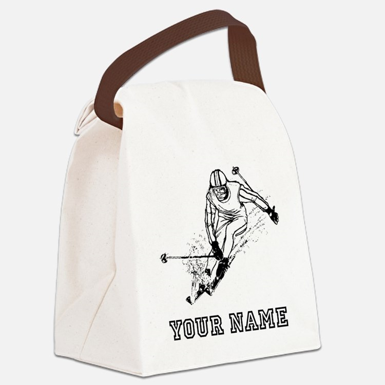 Skier Racing (Custom) Canvas Lunch Bag