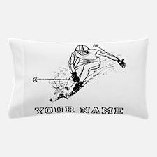 Skier Racing (Custom) Pillow Case