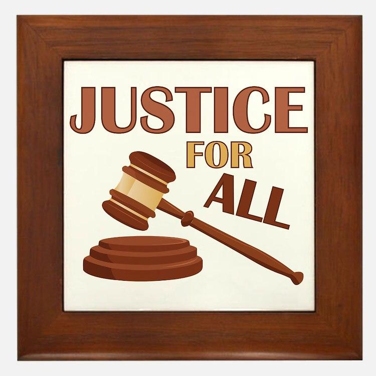 Justice For All Framed Tile