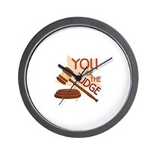You Be Judge Wall Clock