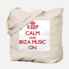 Keep Calm and Ibiza Music ON Tote Bag