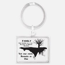 FAMILY, LIKE BRANCHES ON A TREE Landscape Keychain