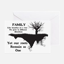 FAMILY, LIKE BRANCHES ON A TREE, WE  Greeting Card