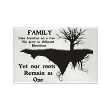 FAMILY, LIKE BRANCHES ON A TREE,  Rectangle Magnet