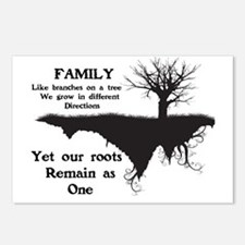 FAMILY, LIKE BRANCHES ON  Postcards (Package of 8)