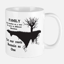 FAMILY, LIKE BRANCHES ON A TREE, WE GRO Mug
