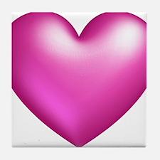 Pink Balloon Heart Tile Coaster