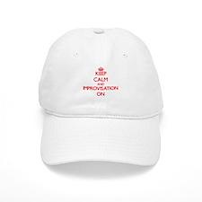 Keep Calm and Improvisation ON Baseball Cap