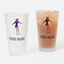 Figure Skater (Custom) Drinking Glass