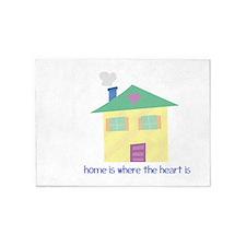 Where Heart Is 5'x7'Area Rug