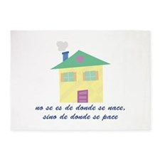 Donde Se Pace 5'x7'Area Rug
