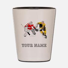 Ice Hockey (Custom) Shot Glass