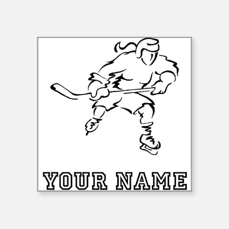 Girl Hockey Player (Custom) Sticker