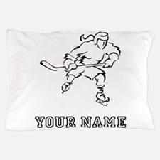 Girl Hockey Player (Custom) Pillow Case