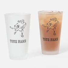 Girl Hockey Player (Custom) Drinking Glass