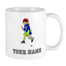 Girl Hockey Player (Custom) Mugs
