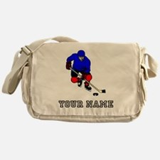 Hockey Player (Custom) Messenger Bag