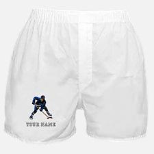 Hockey Player (Custom) Boxer Shorts