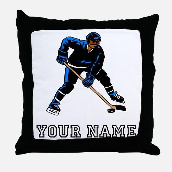 Hockey Player (Custom) Throw Pillow