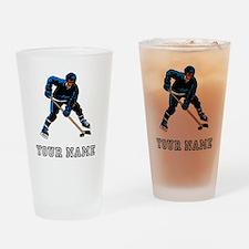 Hockey Player (Custom) Drinking Glass