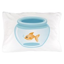 Fish In Bowl Pillow Case
