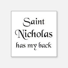 "saint nicholas Square Sticker 3"" x 3"""