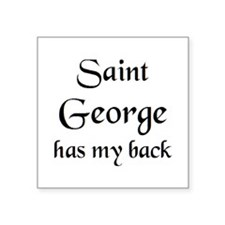 "saint george Square Sticker 3"" x 3"""