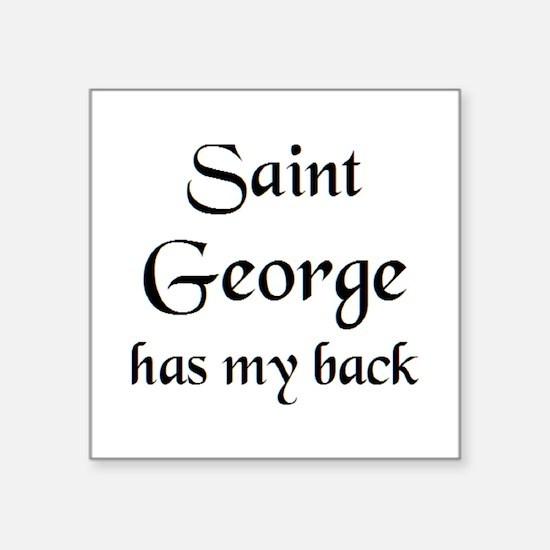 "saint george Square Sticker 3"" x 3"""
