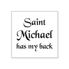 "saint michael Square Sticker 3"" x 3"""